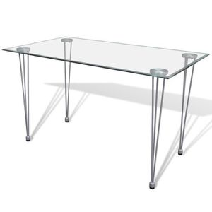 Salle a manger complete achat vente salle a manger complete pas cher cd - Table a manger transparente ...