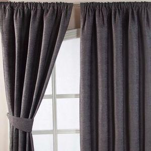rideaux epais gris achat vente rideaux epais gris pas cher cdiscount. Black Bedroom Furniture Sets. Home Design Ideas
