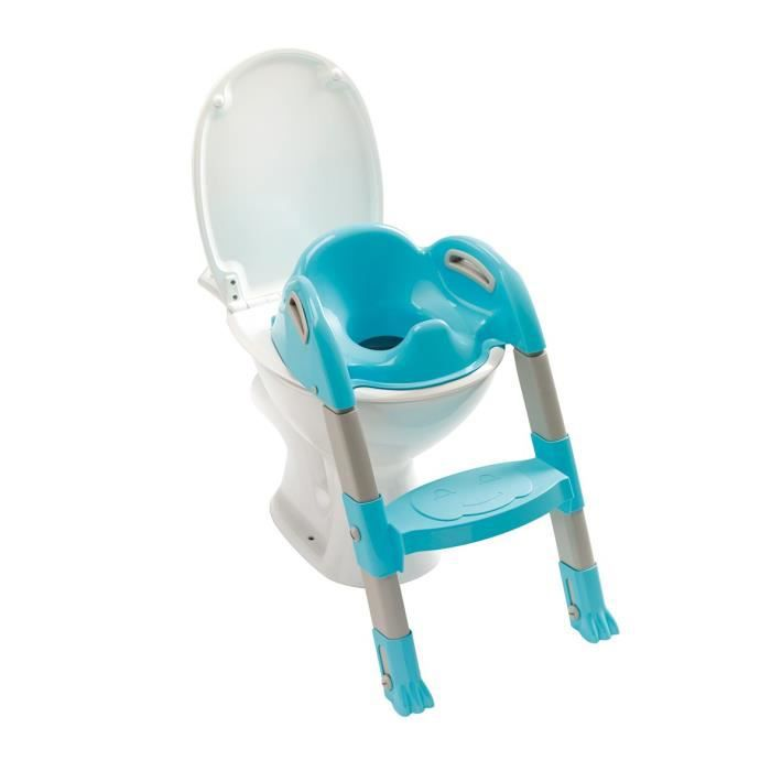 thermobaby r ducteur de wc kiddyloo turquoise gris. Black Bedroom Furniture Sets. Home Design Ideas