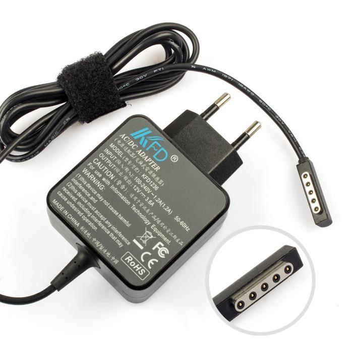 45w 12v chargeur pour microsoft surface pro pro 2 prix pas cher soldes cdiscount. Black Bedroom Furniture Sets. Home Design Ideas