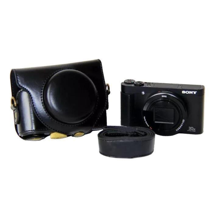 Housse En Cuir Pour L 39 Appareil De Photo Pour Sony Hx90v