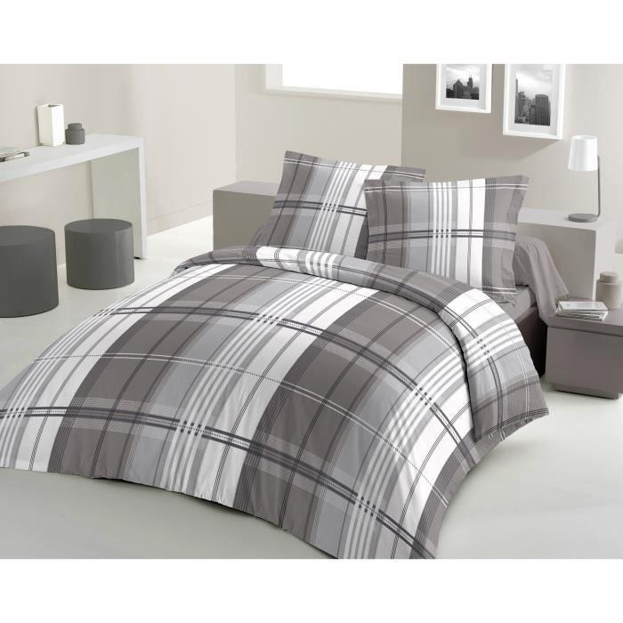 housse de couette pastel 200x200cm gris achat vente. Black Bedroom Furniture Sets. Home Design Ideas