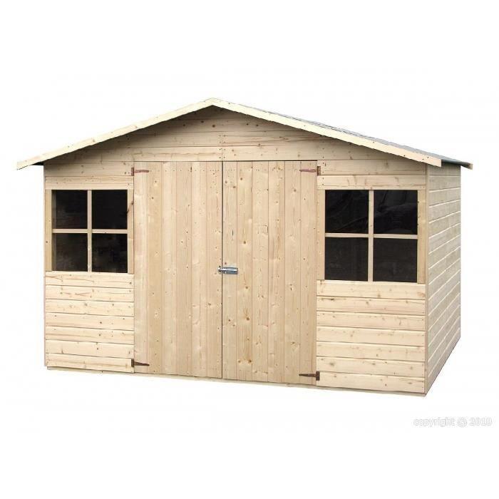 abri de jardin en bois 2 70 x 1 80 m avec plancher achat vente abri jardin chalet abri de. Black Bedroom Furniture Sets. Home Design Ideas