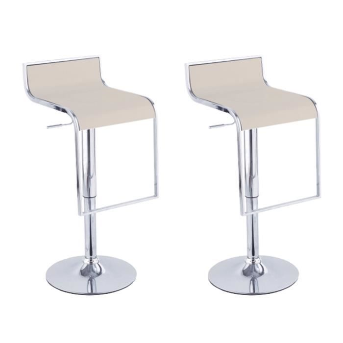 lot de 2 tabourets de bar design oblong taupe achat. Black Bedroom Furniture Sets. Home Design Ideas