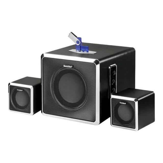 technaxx musicman bt x3 2 1 enceinte pc noir prix pas. Black Bedroom Furniture Sets. Home Design Ideas