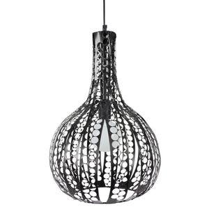 CELTIQUE Lustre - suspension bandes de métaltouée, diam?tre 33 cm, forme carafe, noir