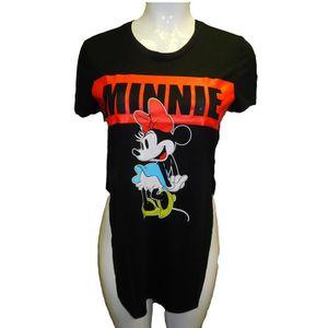 T-SHIRT Disney Minnie Mickey Juniors Side Slit T-shirt