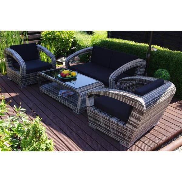 Salon de jardin 4 pi ces hemyr achat vente salon de jardin salon de jardi - Salon de jardin a prix discount ...