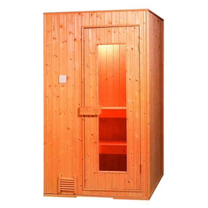 Sauna traditionnel dolce laufey 1 place achat vente kit sauna sauna tradi - Achat sauna traditionnel ...