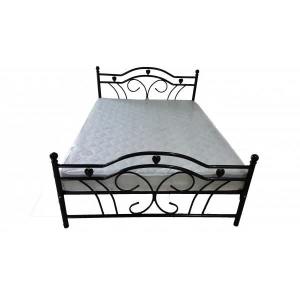 lit m tal m tallica 2 place noir achat vente structure. Black Bedroom Furniture Sets. Home Design Ideas