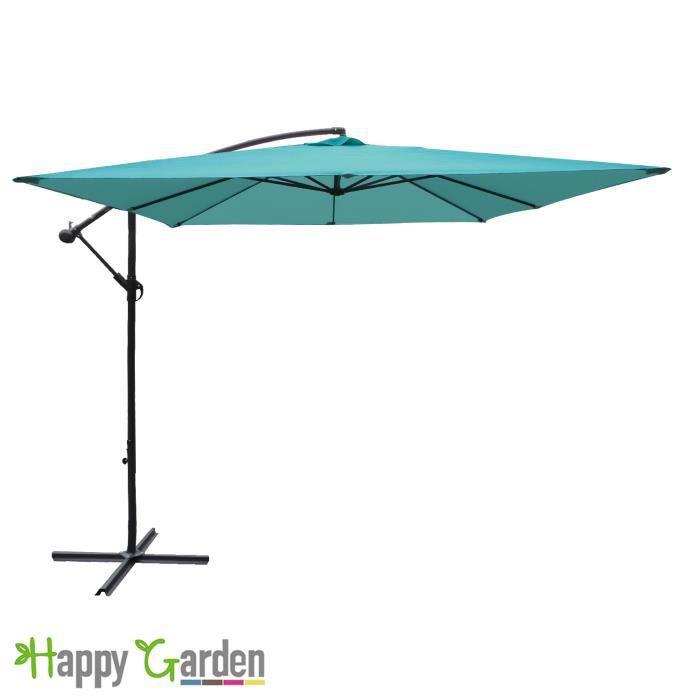 parasol d port carr 2 7x2 7m turquoise achat vente. Black Bedroom Furniture Sets. Home Design Ideas