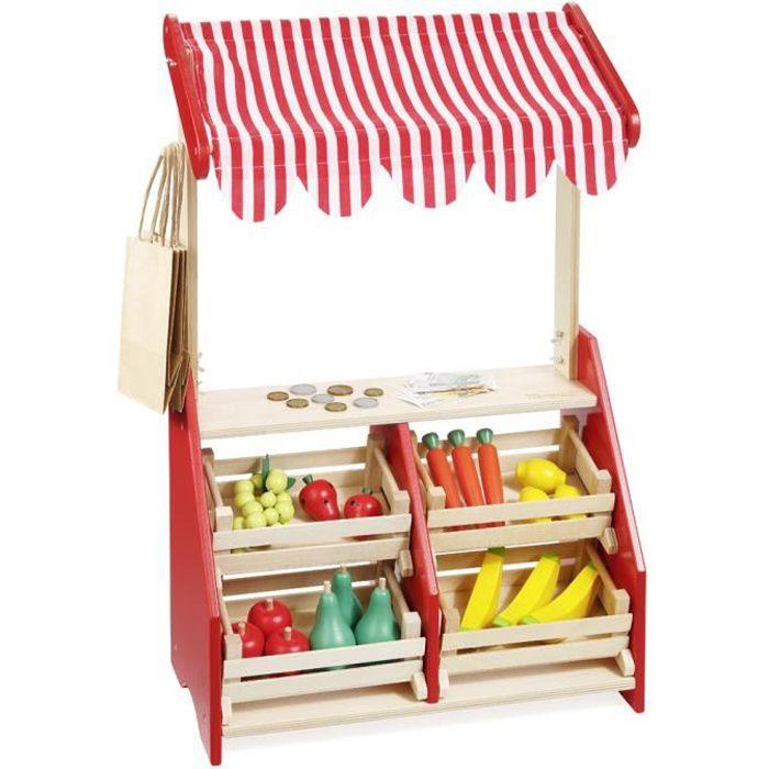howa marchande pour enfant stand de march en bois. Black Bedroom Furniture Sets. Home Design Ideas