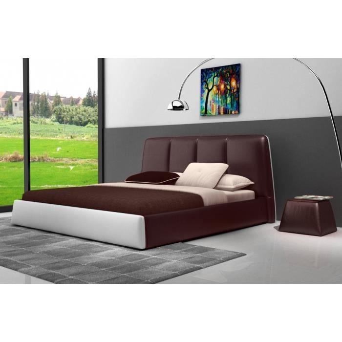 Lit design en cuir italien de luxe verdi et achat vente structure de lit cdiscount Meubles design italien luxe