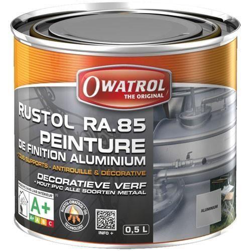 Antirouille aluminium rustol alu owatrol 0 5 litre achat vente peinture vernis for Peinture radiateur couleur aluminium
