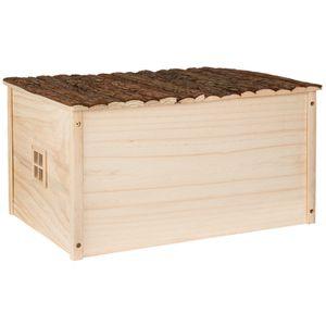maison rongeur en bois achat vente maison rongeur en bois pas cher les soldes sur. Black Bedroom Furniture Sets. Home Design Ideas