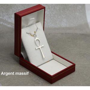PARURE Ensemble pendentif croix égyptienne ansée ankh et