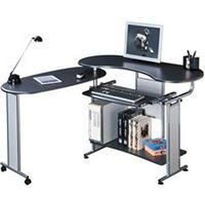 Bureau d 39 ordinateur rabattable laqu noir achat vente meuble informat - Bureau ordinateur noir ...