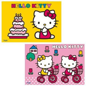 puzzle puzzle 2 x 12 pices hello kitty fte son ann