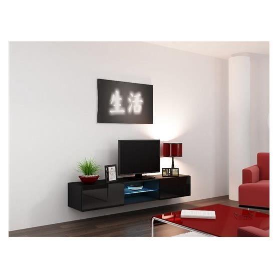 Meuble tv design ramses noir achat vente meuble tv meuble tv ramses nr - Cdiscount meuble tv design ...