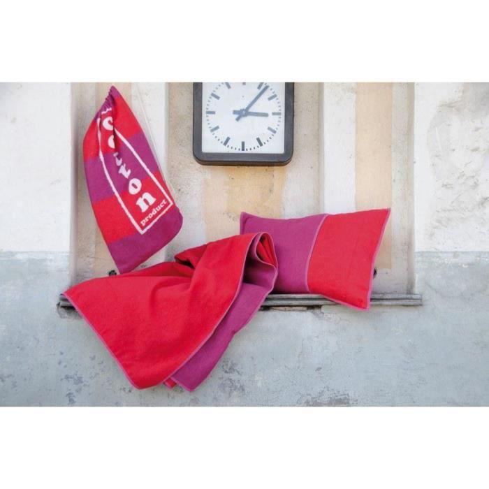Enveloppe de coussin 40 x 60 cm uni double face rouge for Housse de coussin 40 x 60