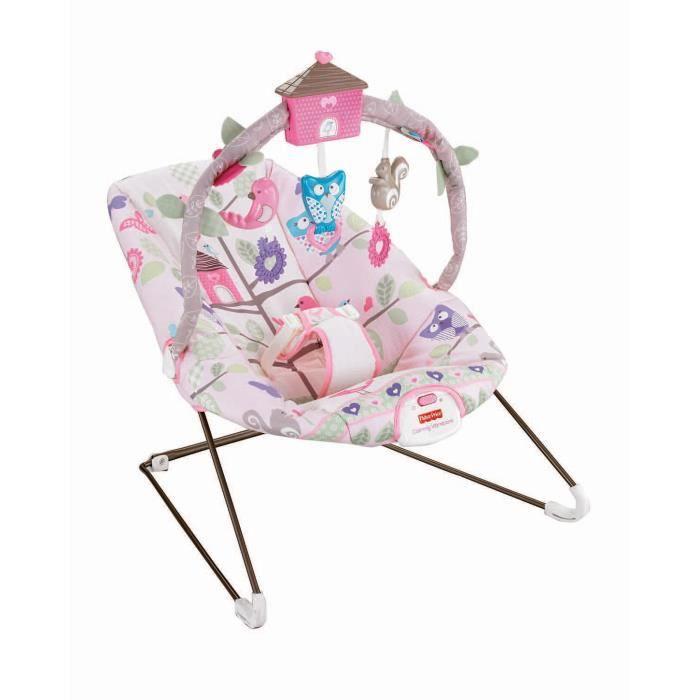 fisher price transat fille mobile cabane oiseaux rose. Black Bedroom Furniture Sets. Home Design Ideas