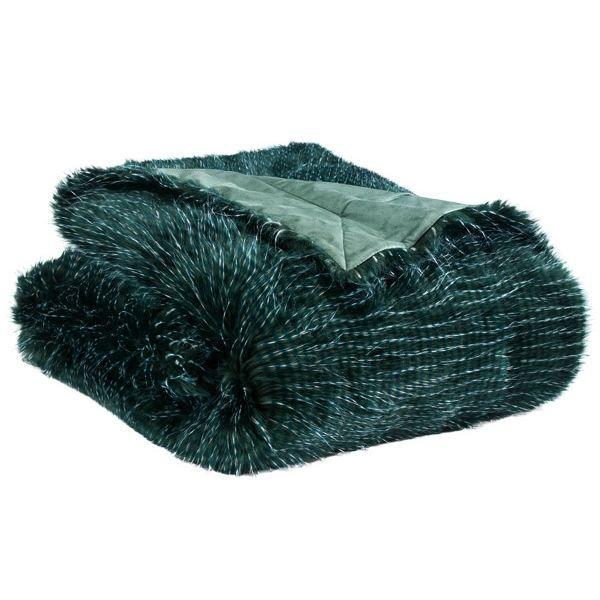 plaid fausse fourrure yeti vert 130 x 150 cm achat vente couverture plaid cdiscount. Black Bedroom Furniture Sets. Home Design Ideas