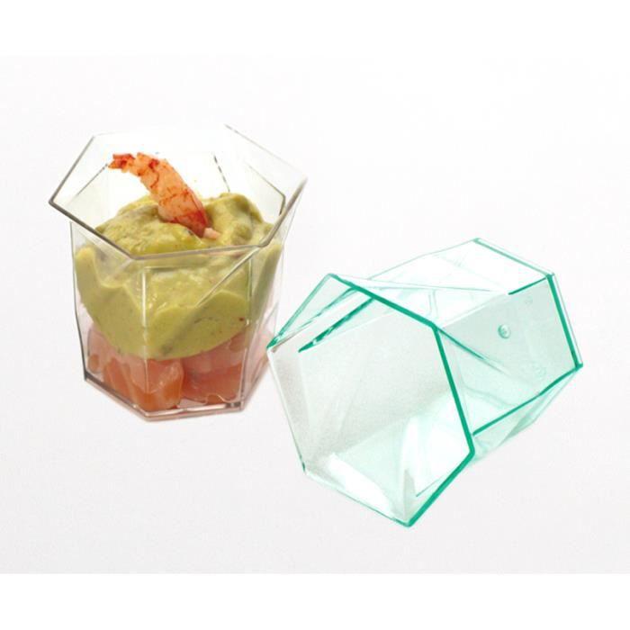 12 verrines plastiques fantu 6 cl cristal achat vente mise en bouche cdiscount. Black Bedroom Furniture Sets. Home Design Ideas