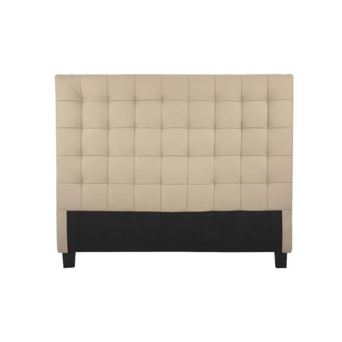 t te de lit en pu 165 x 120 taupe zion achat vente. Black Bedroom Furniture Sets. Home Design Ideas