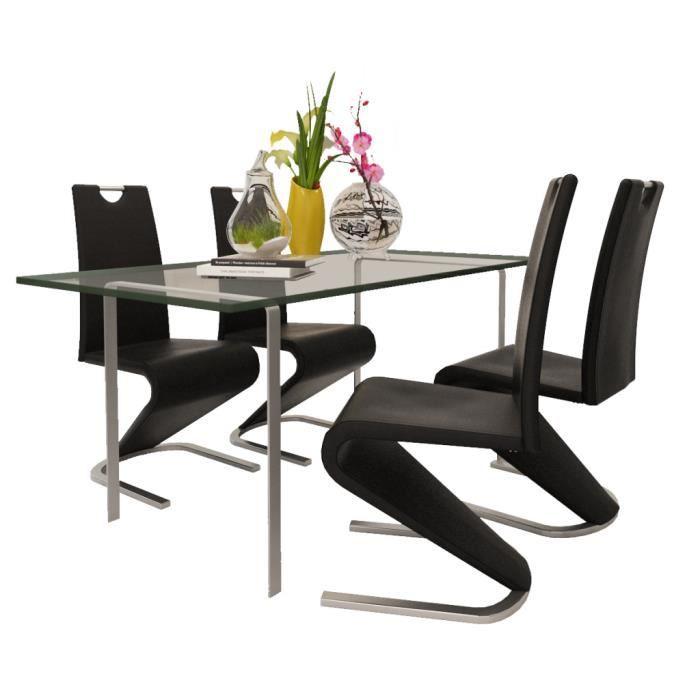 Chaise en tu cantilever avec pieds en forme de u noir 4 - Canape en forme de u ...