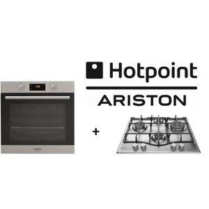 PACK Cuisson HOTPOINT: FA2 540 P IX HA-Four électrique multifonction-Chaleur tournante-66L + EHP640(X)/HA-Table de cuisson Gaz