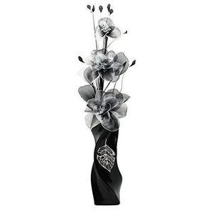 VASE - SOLIFLORE Flourish Vase avec 799540 E13 Noir et Blanc Fleur