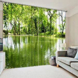 rideau vert eau achat vente rideau vert eau pas cher cdiscount. Black Bedroom Furniture Sets. Home Design Ideas