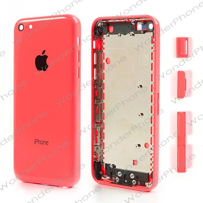 pi ce d tach e coque chassis iphone 5c rouge iscrews. Black Bedroom Furniture Sets. Home Design Ideas
