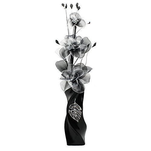 flourish vase avec 799540 e13 noir et blanc fleur noir. Black Bedroom Furniture Sets. Home Design Ideas
