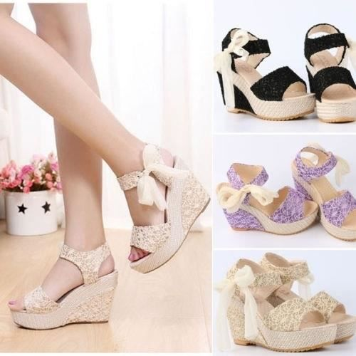 escarpin t femmes chaussures peep toe strappy floral dent - Chaussure Compense Mariage