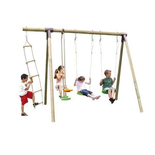 portique bois 2 50 m 5 enfants achat vente balancoire station jeux portique bois 2 50 m. Black Bedroom Furniture Sets. Home Design Ideas