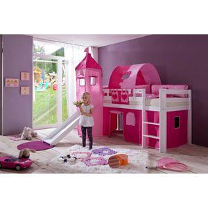 lit mezzanine princesse achat vente lit mezzanine princesse pas cher cdiscount. Black Bedroom Furniture Sets. Home Design Ideas