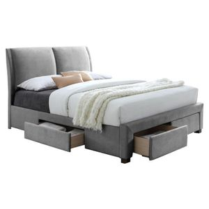 lit a rangements 160x200 achat vente lit a rangements. Black Bedroom Furniture Sets. Home Design Ideas
