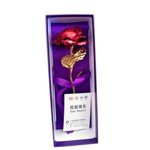 FLEUR ARTIFICIELLE or 24k en bijoux pour femmes fleurs rose amants va