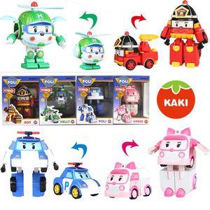 ROBOT - ANIMAL ANIMÉ 4pcs robocars poli corée voiture robot jouets joue