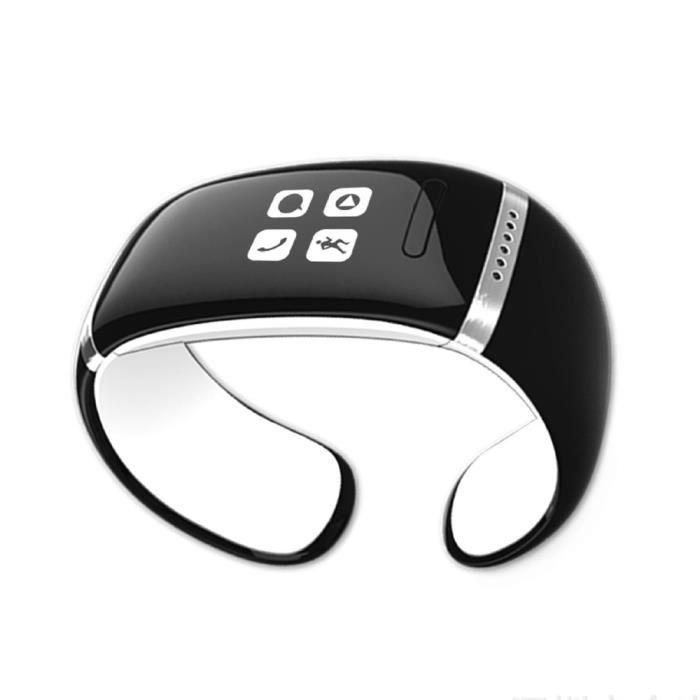 l12s smart bracelet bluetooth montre connect avec oled cran tactile pour smartphone iphone. Black Bedroom Furniture Sets. Home Design Ideas