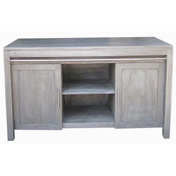 Meuble en teck pour salle de bain grey island achat vente meuble vasque - Meuble en teck d occasion ...
