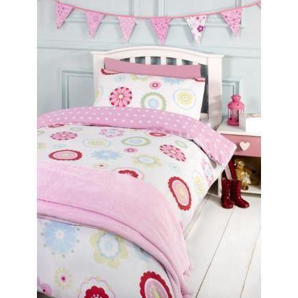 fleurs rose parure de lit 140cm achat vente parure. Black Bedroom Furniture Sets. Home Design Ideas