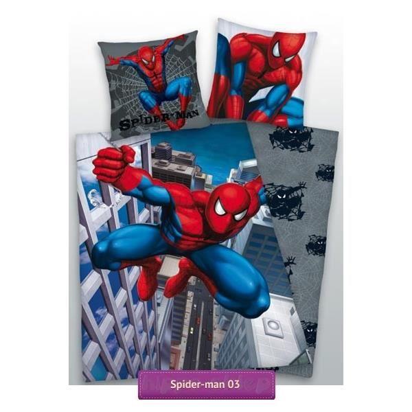 parure de lit spiderman 160 x 200 achat vente parure de drap cdiscount. Black Bedroom Furniture Sets. Home Design Ideas