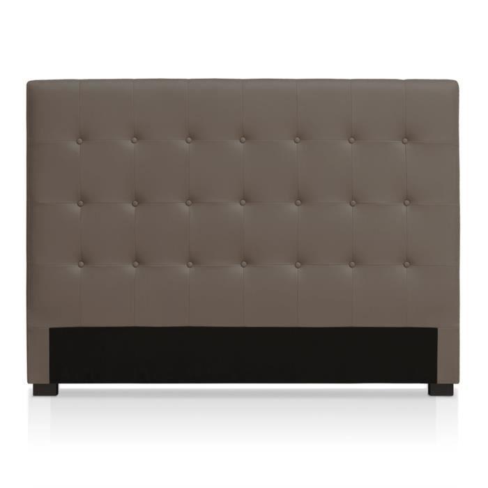 t te de lit luxor 160cm taupe achat vente t te de lit. Black Bedroom Furniture Sets. Home Design Ideas