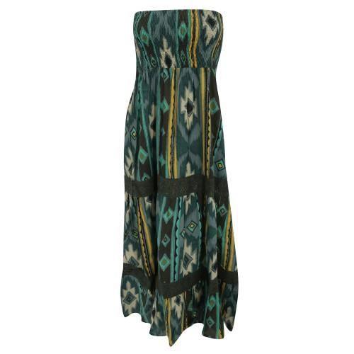 robe d 39 t imprim 2 en 1 100 coton femme vert achat vente robe les soldes sur. Black Bedroom Furniture Sets. Home Design Ideas