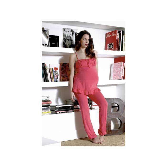 pyjama glamour pyjamas grossesse et allaitement multicolore achat vente pyjama chemise de. Black Bedroom Furniture Sets. Home Design Ideas
