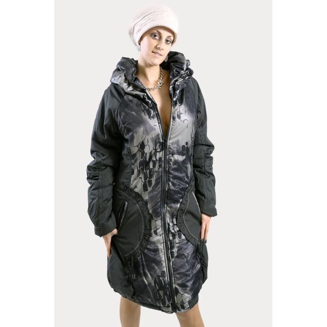 manteau femme long noir de marque l33 fin de collection noir achat vente manteau caban. Black Bedroom Furniture Sets. Home Design Ideas