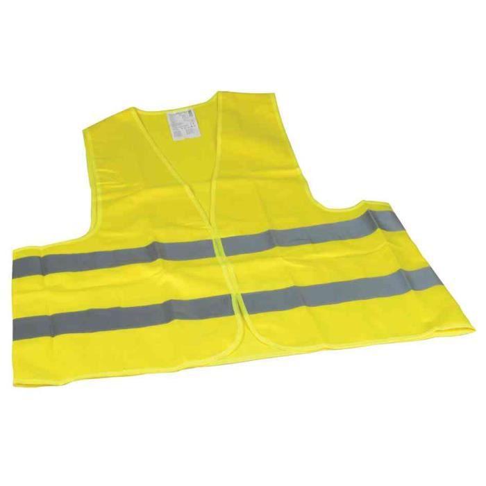 gilet de s curit polyester din en 471 jaune achat vente kit de s curit gilet de s curit. Black Bedroom Furniture Sets. Home Design Ideas