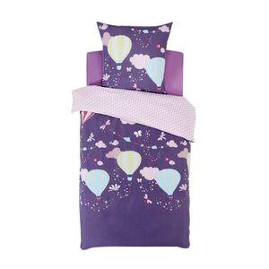 melia parure de couette enfant pour lit 1 place violet achat vente paru. Black Bedroom Furniture Sets. Home Design Ideas
